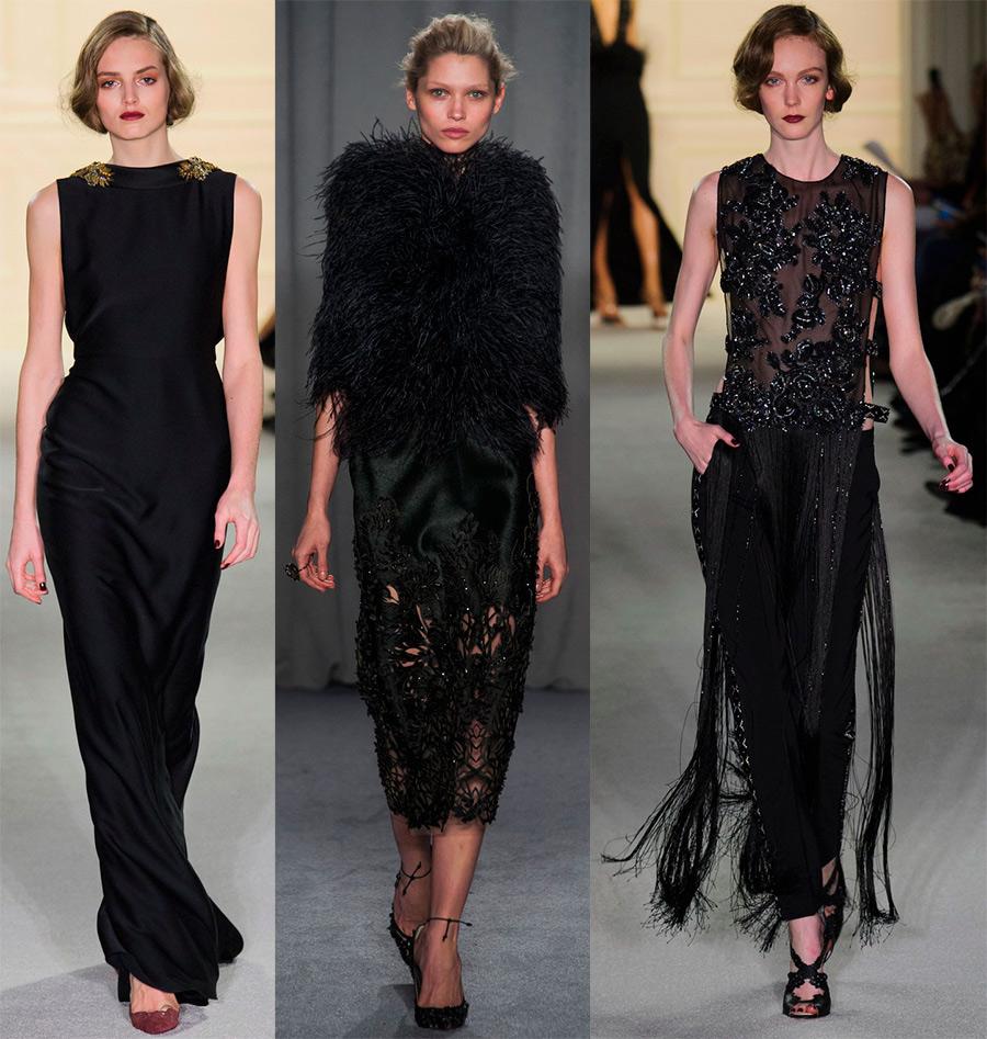 Скромные черные платья от Marchesa