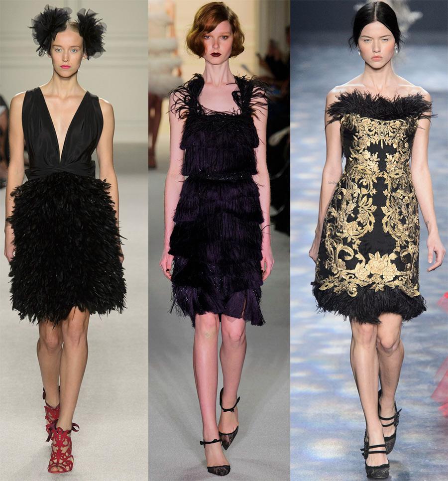 15 скромных черных платьев от Marchesa