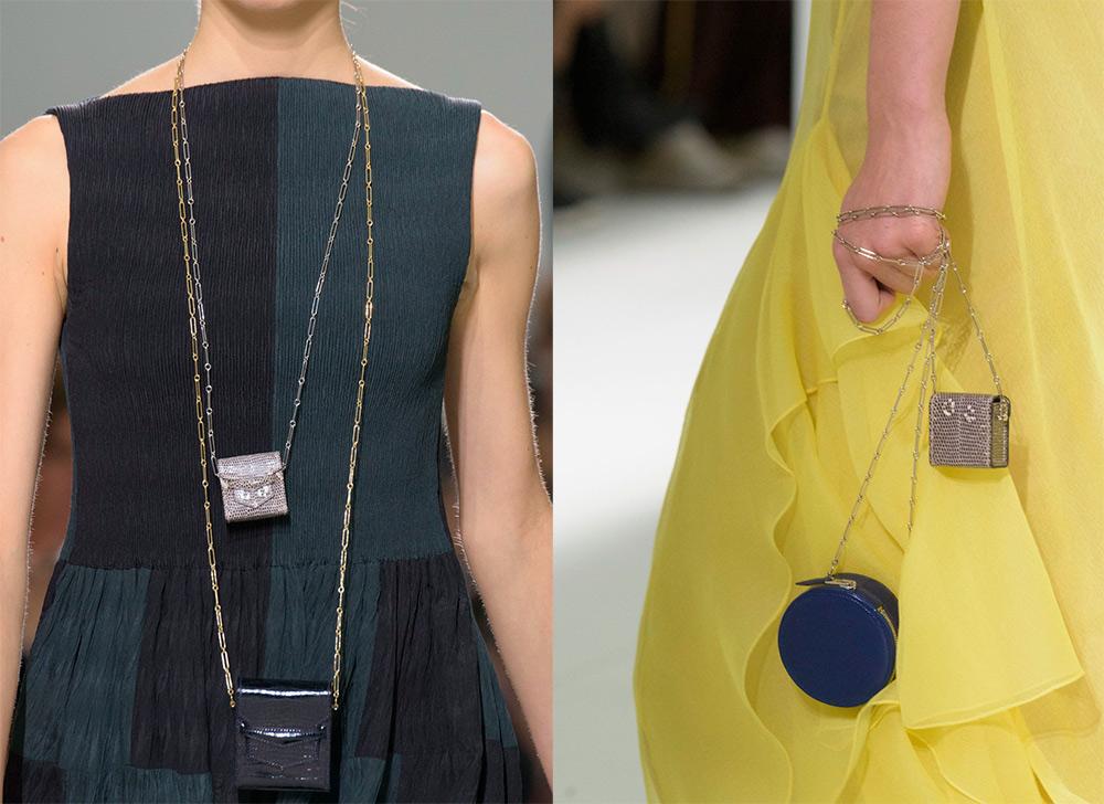 Маленькие сумочки на цепочке на шею весна-лето 2017