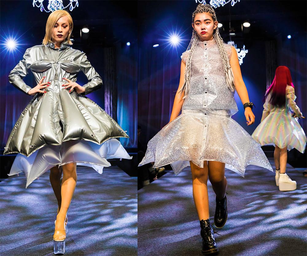 Надувные куртки и платья как замена плащу-дождевику