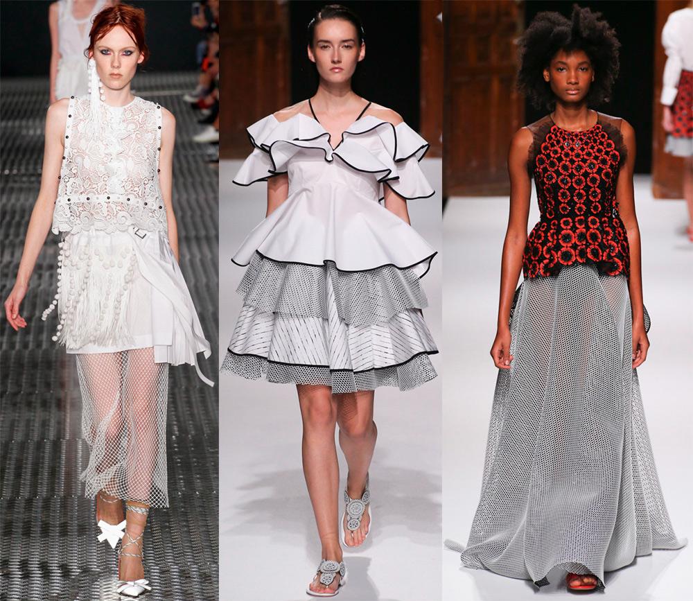 Платье и юбки с сеткой
