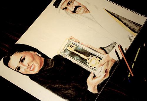 Модные иллюстрации с образами Шейха Моза