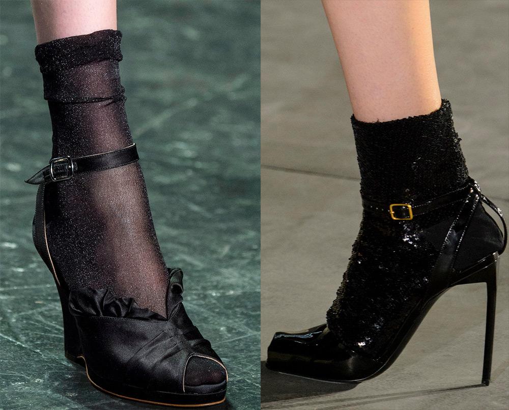 Открытые туфли с носком