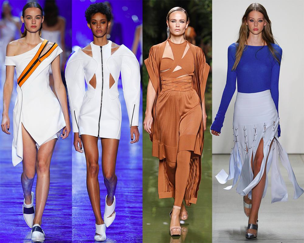 Модные разрезы на одежде