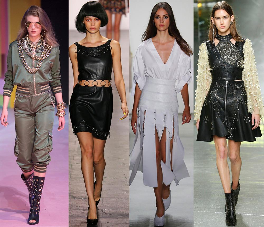 Металлический декор модной одежды