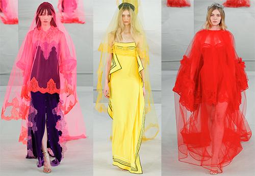 Яркие кутюрные платья, как свадебный наряд