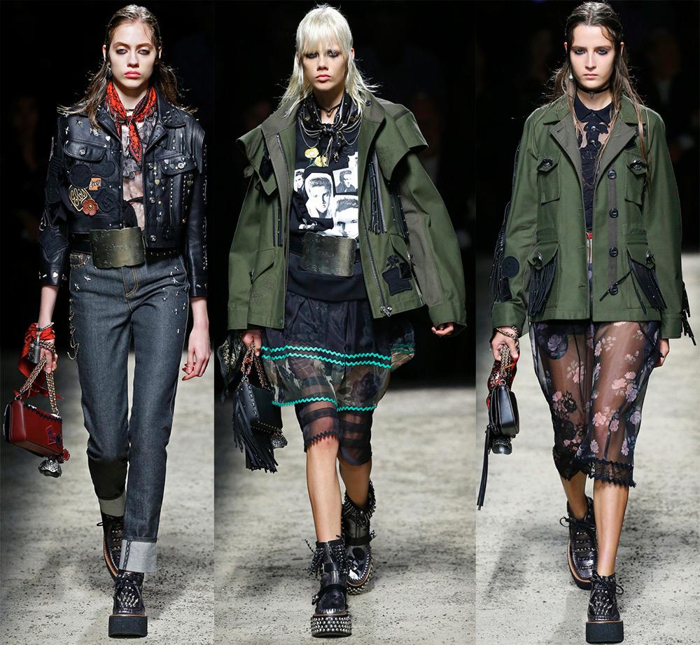 женские куртки в стиле милитари