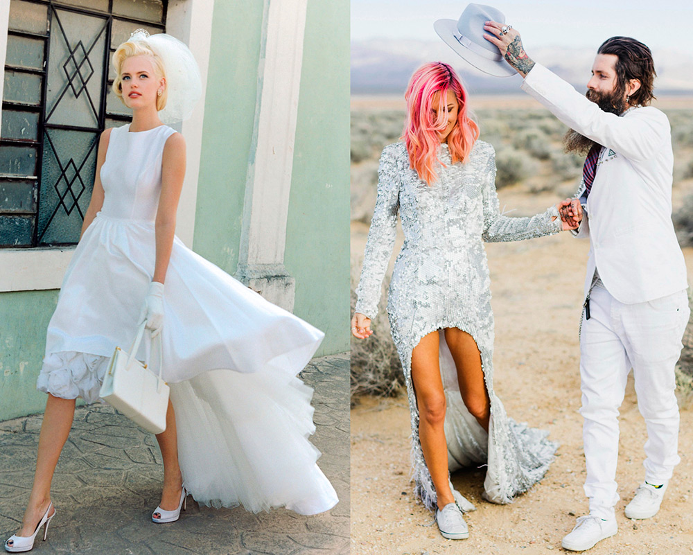 Свадебное платье маллет