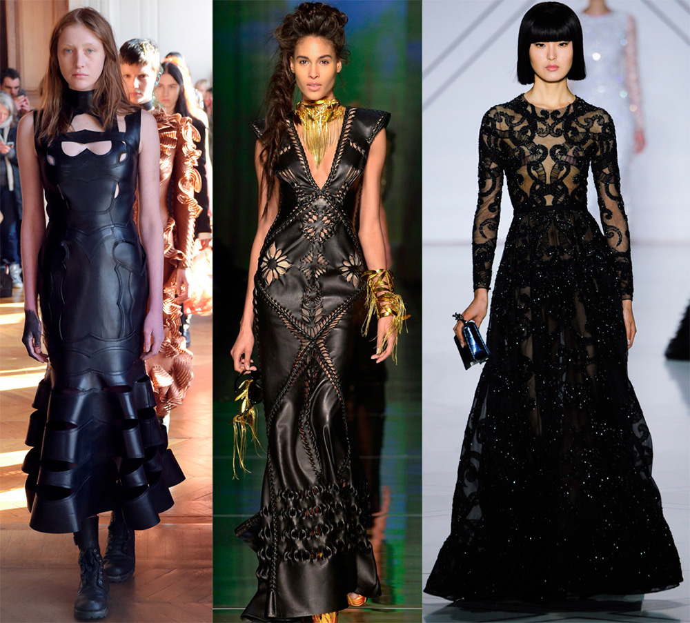 Роскошные черные платья 2017