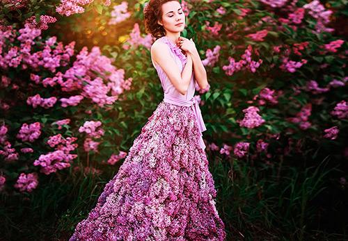 Живые цветы и Fashion фотография
