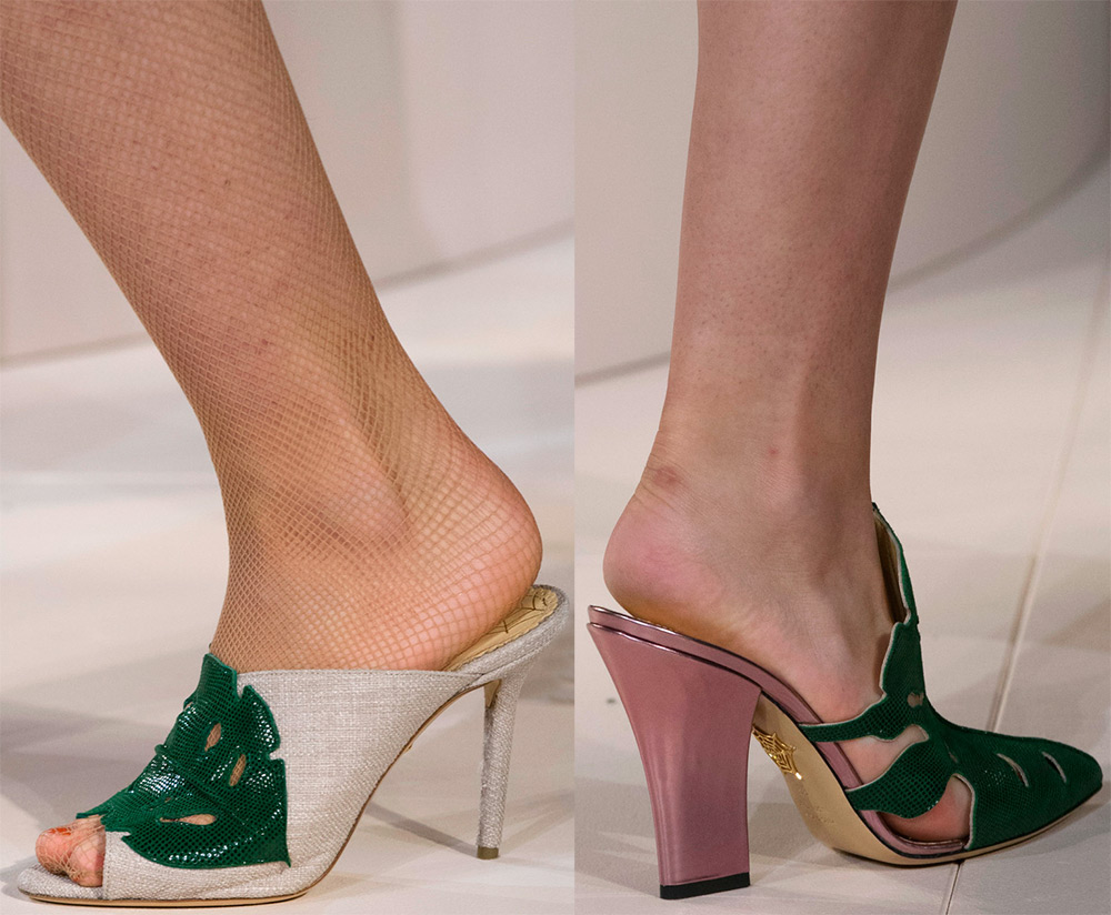 Модные женские туфли мюли
