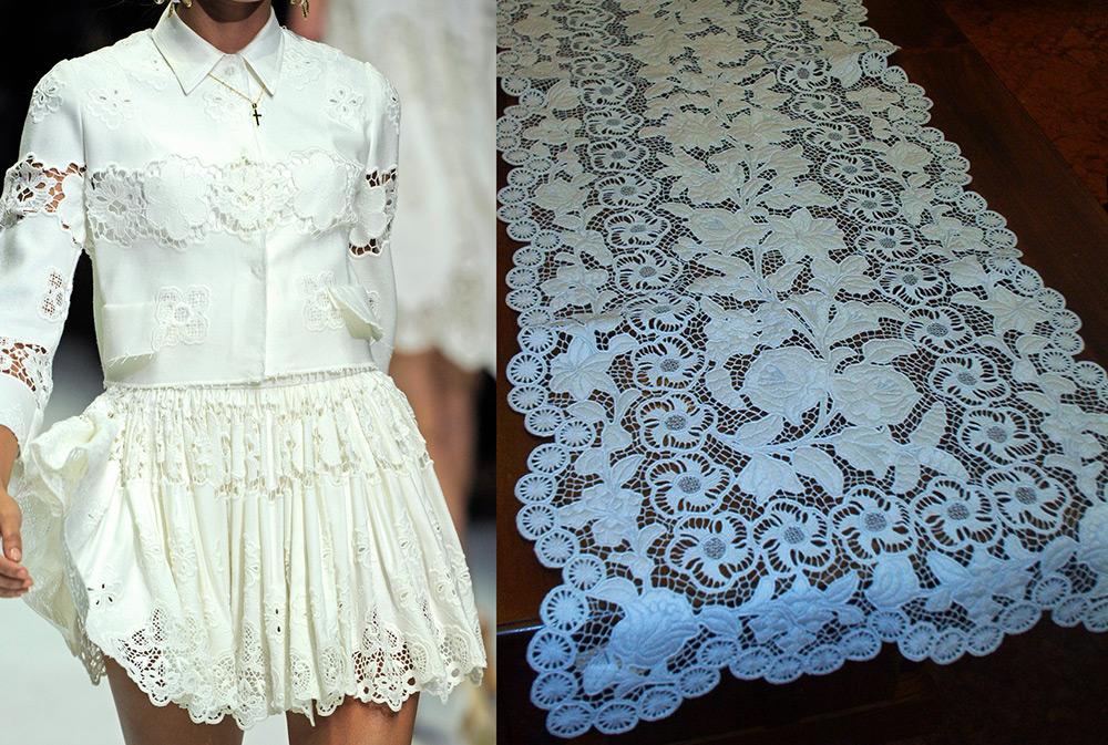 Фото вышивка ришелье на одежде фото