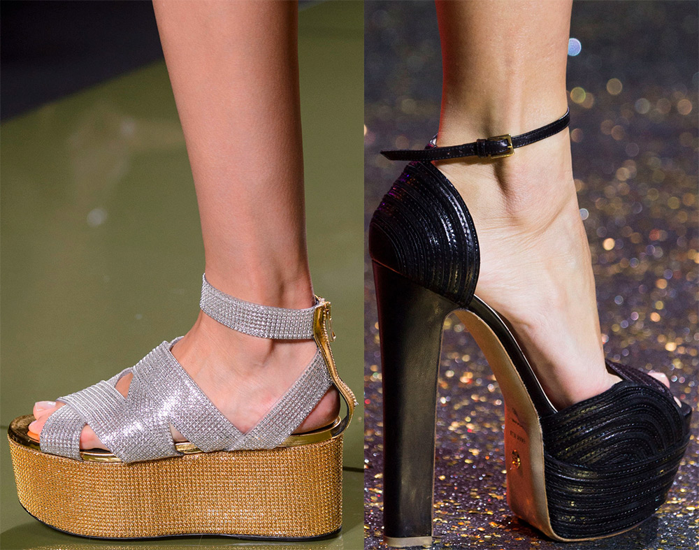 Fashionable platform shoes