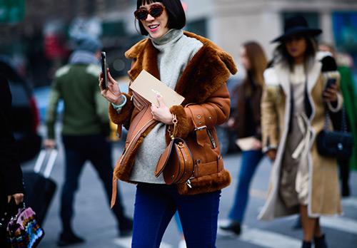 Дубленки с Недели моды – лучшие образы