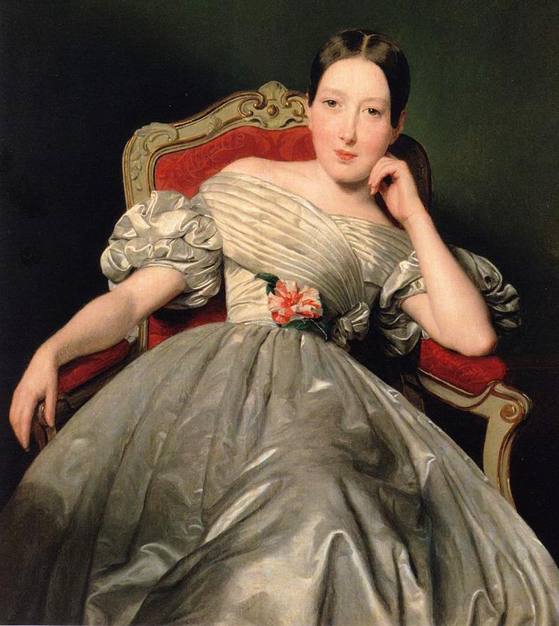 Платье в стиле бидермейер