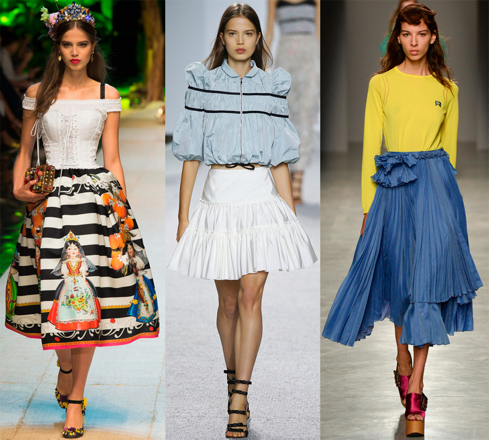 Пышные модные юбки 2017