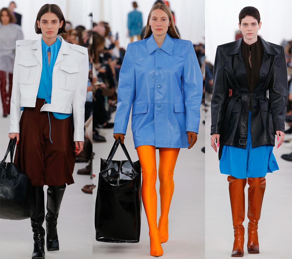 Кожаные куртки Balenciaga