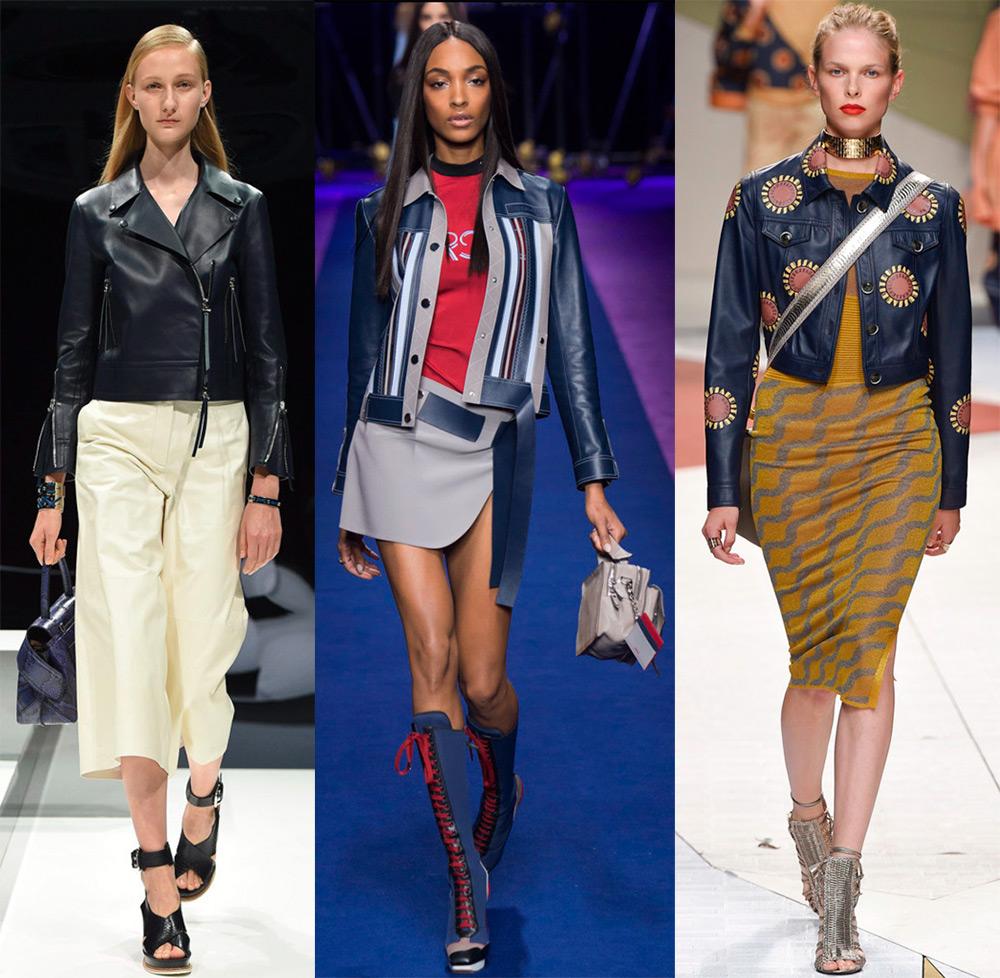 Модные кожаные куртки и жакеты 2017
