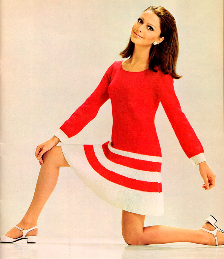 Вязаное платье 1960 годов