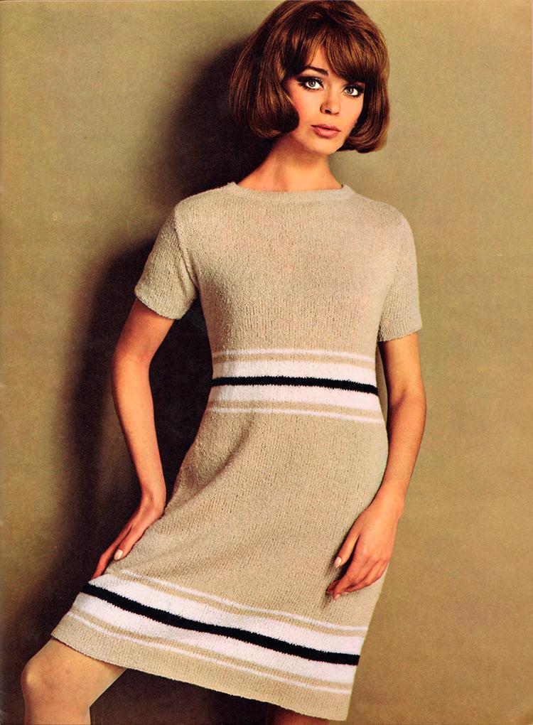 21 вязаное платье 1960х годов