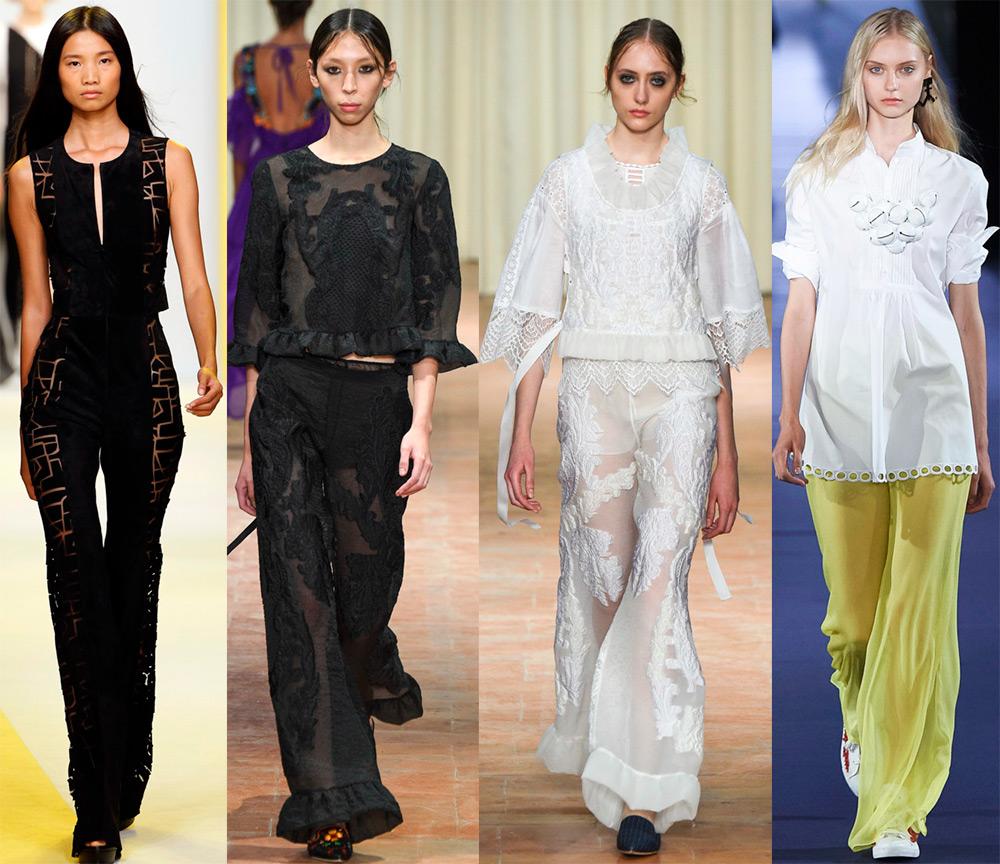 Женские брюки с прозрачностью
