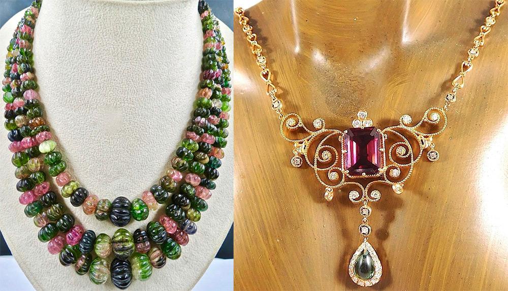 Ожерелья с камнем турмалин