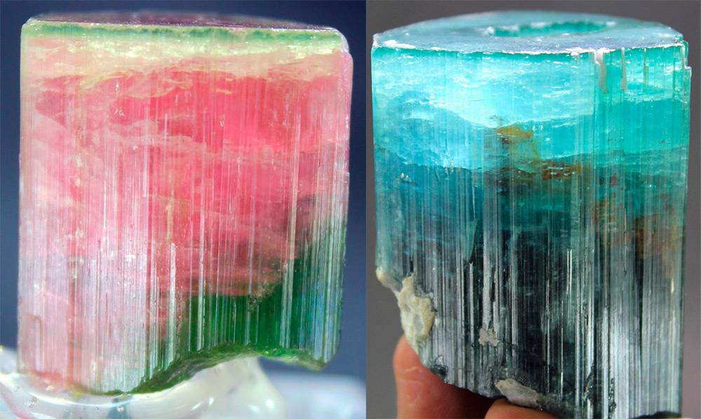 Кристаллы камня турмалин