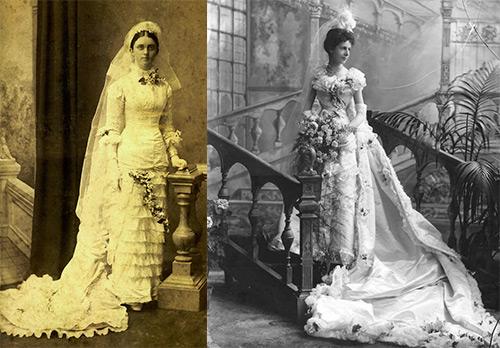 Свадебные платья Викторианской эпохи – редкие фото
