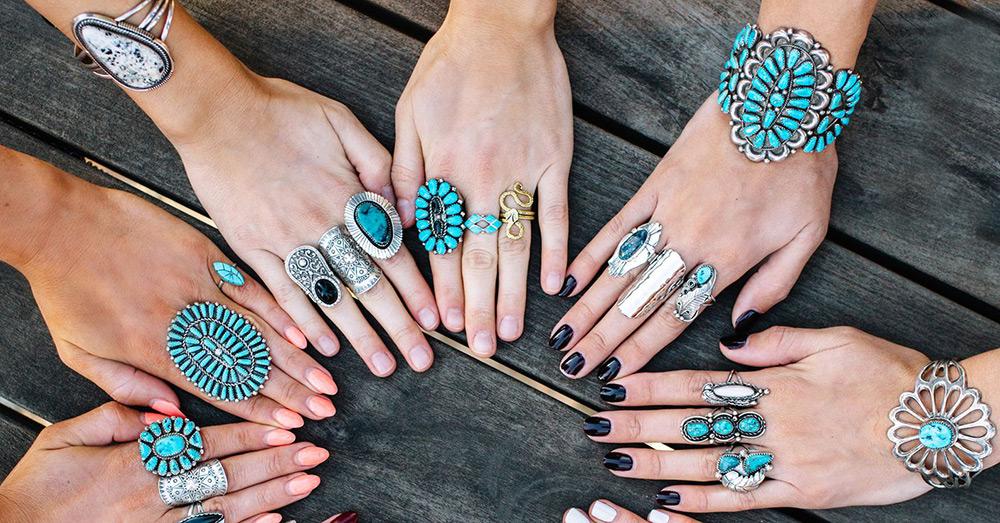 Кольца и браслеты в стиле бохо