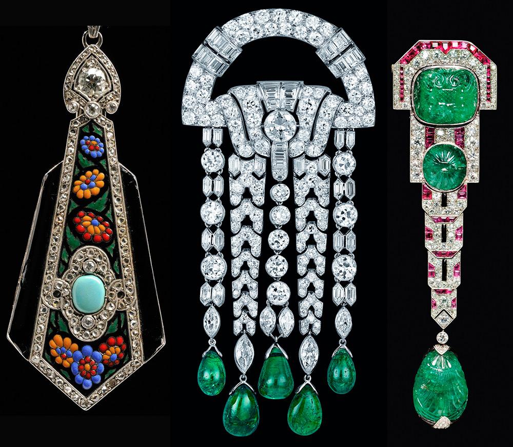 Ювелирные украшения в стиле Ар-деко