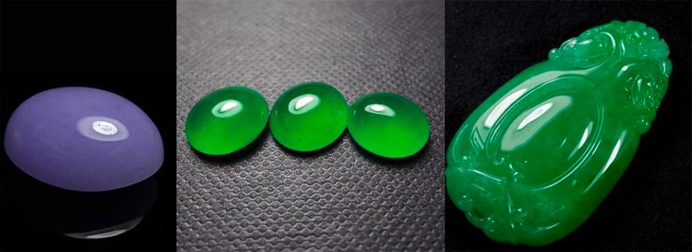 Камень жадеит разных цветов
