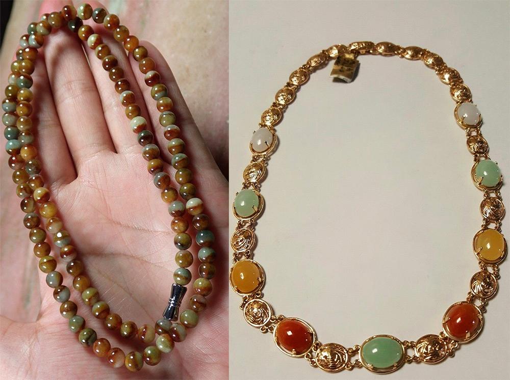 Ожерелья из жадеита