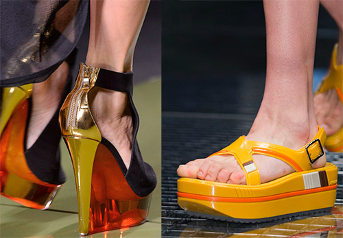 Модная обувь на платформе – коллекции 2017 года
