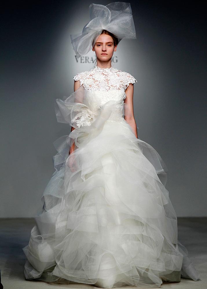 Пышное свадебное платье Вера Вонг