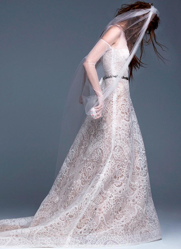 Кружевное свадебное платье Вера Вонг