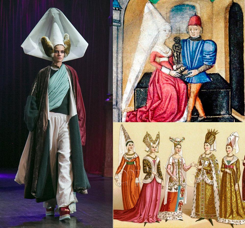 Головной убор Эннен в современной моде