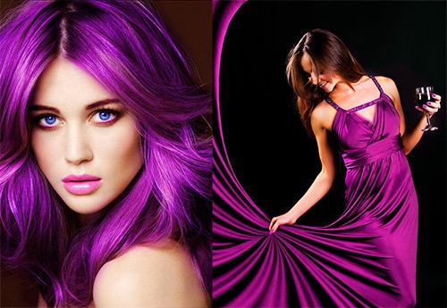 История о пурпурном цвете и лучшие образы в пурпуре