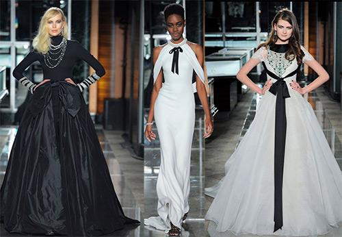 Черно-белая свадебная коллекция Reem Acra