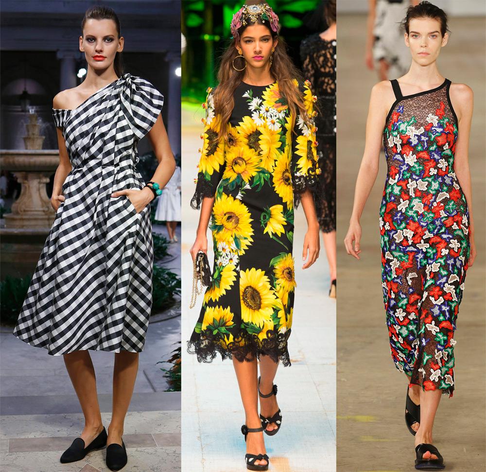 платья в полоску и цветочек