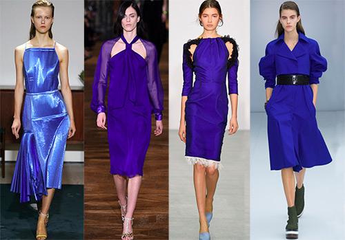 Синие платья в теплом сезоне 2017 года