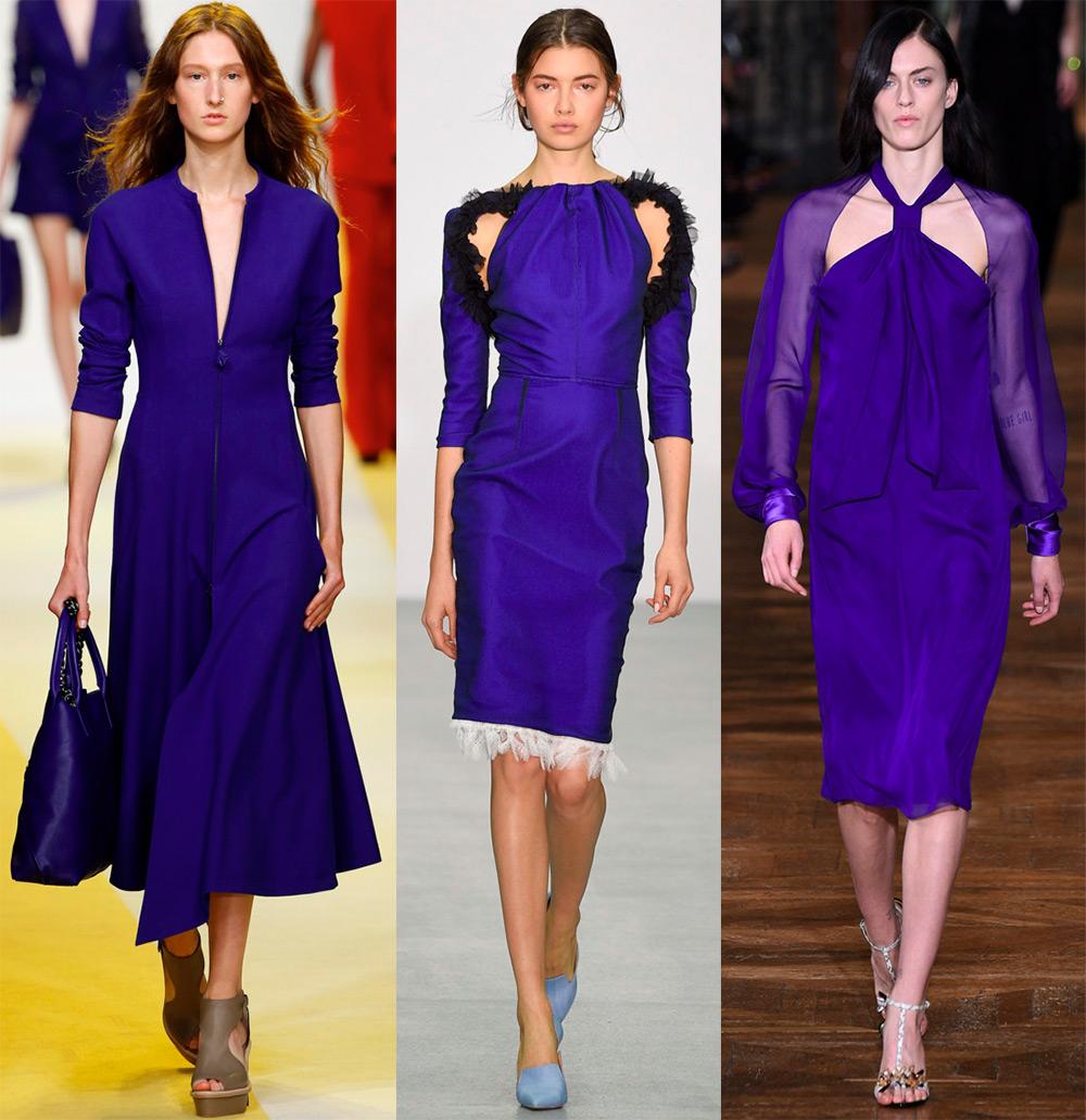 Синие платья 2017 года