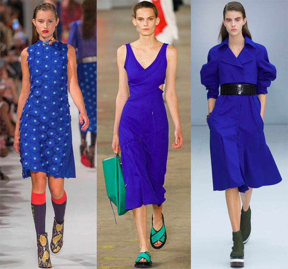 Красивые синие платья 2017