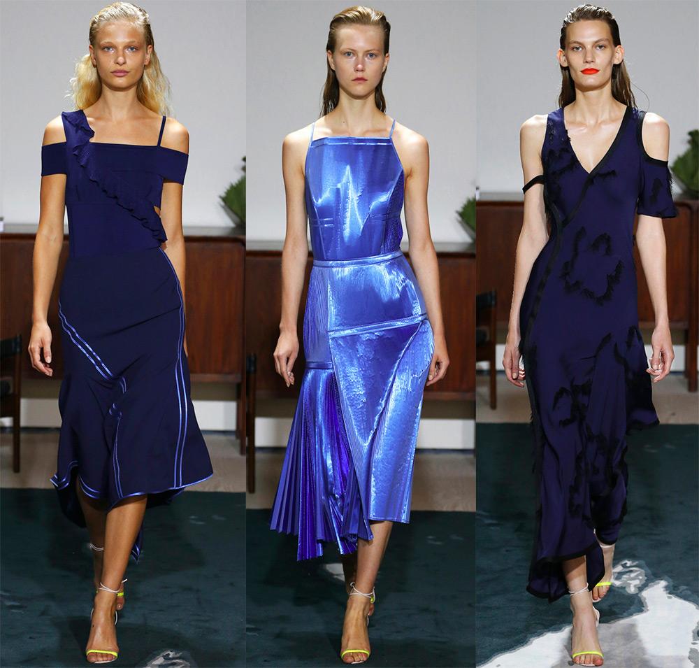 Синее платье 2017