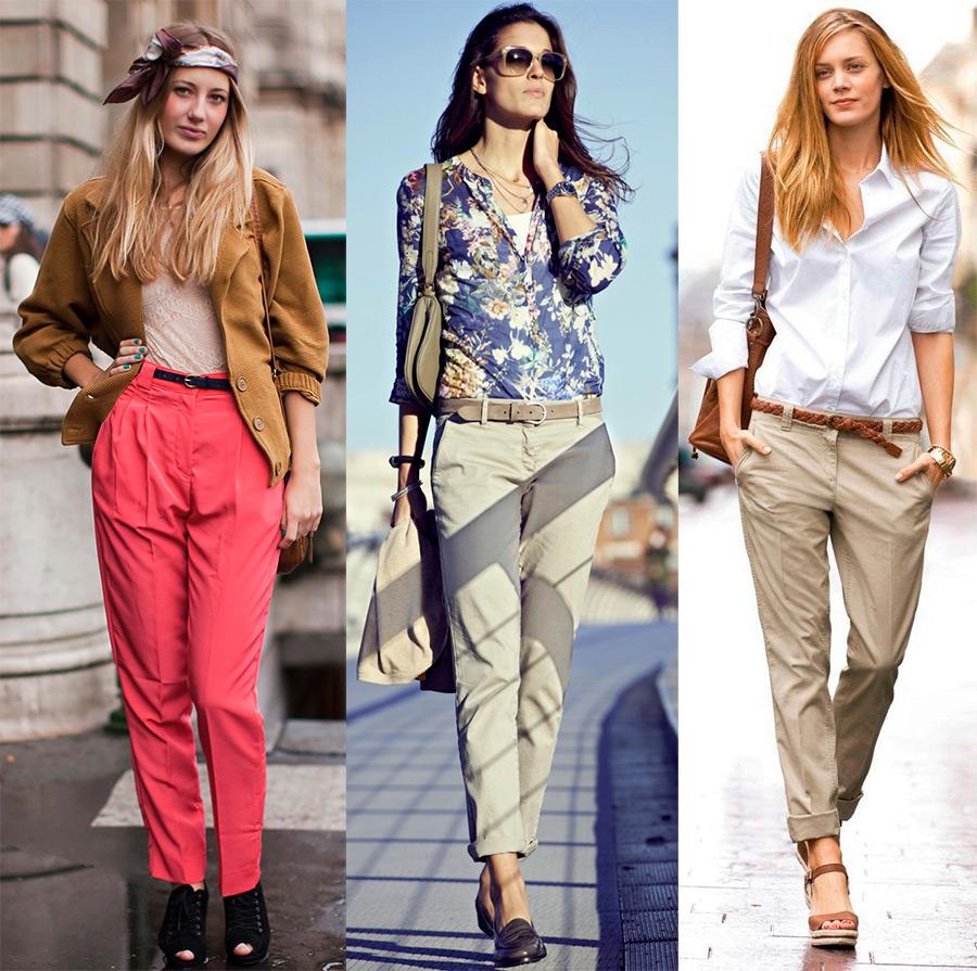 Женские брюки чиносы – что это такое и с чем носить
