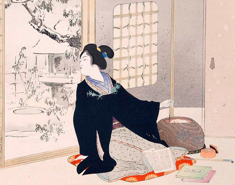 Традиционный костюм Японских девушек и мужчин