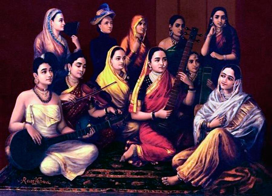 Национальный костюм Индии для женщин и мужчин