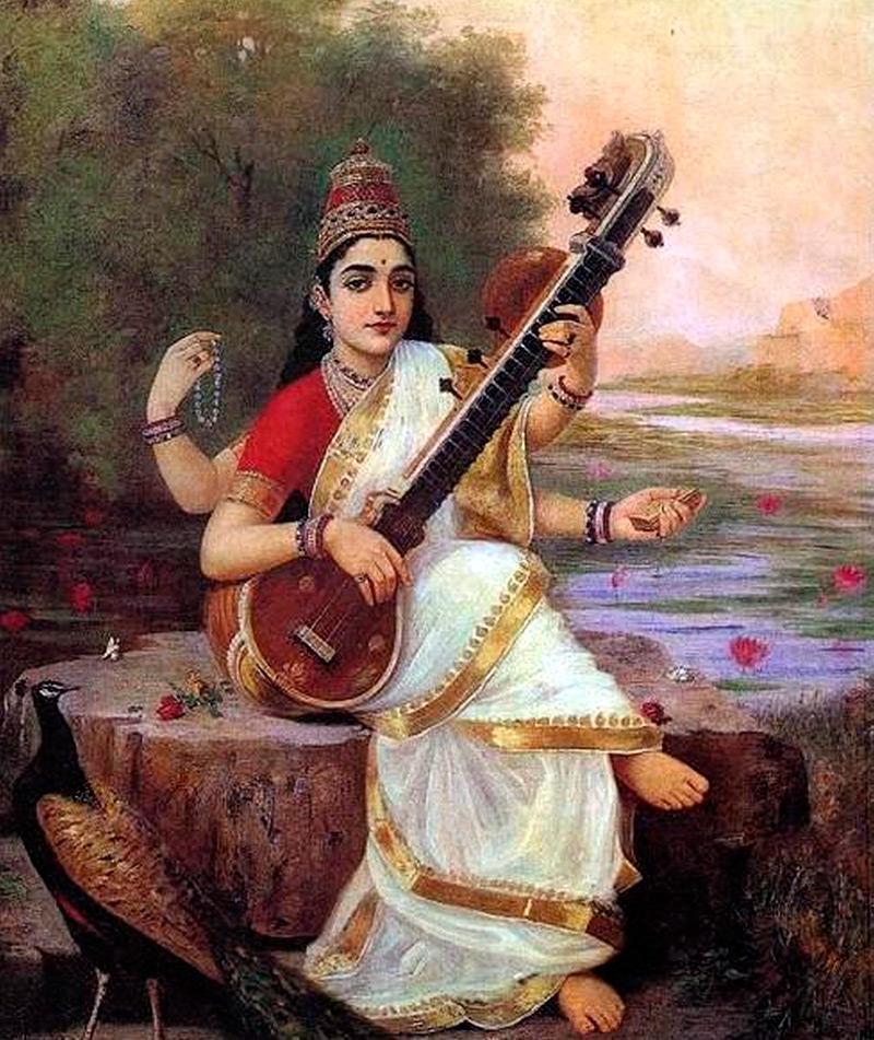 Национальный женский костюм Индии