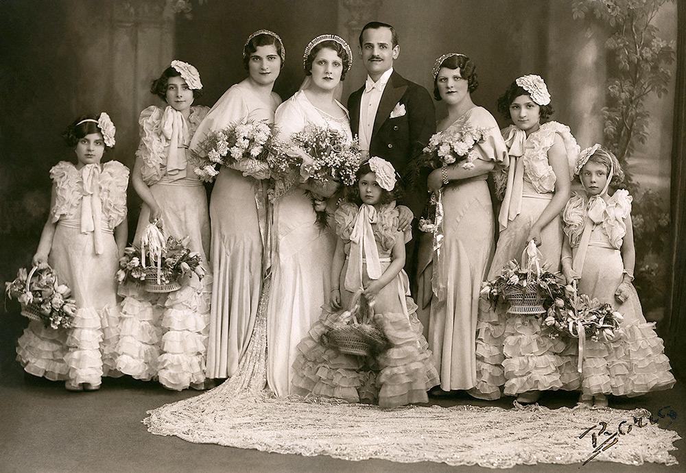 Свадьба – винтажное фото