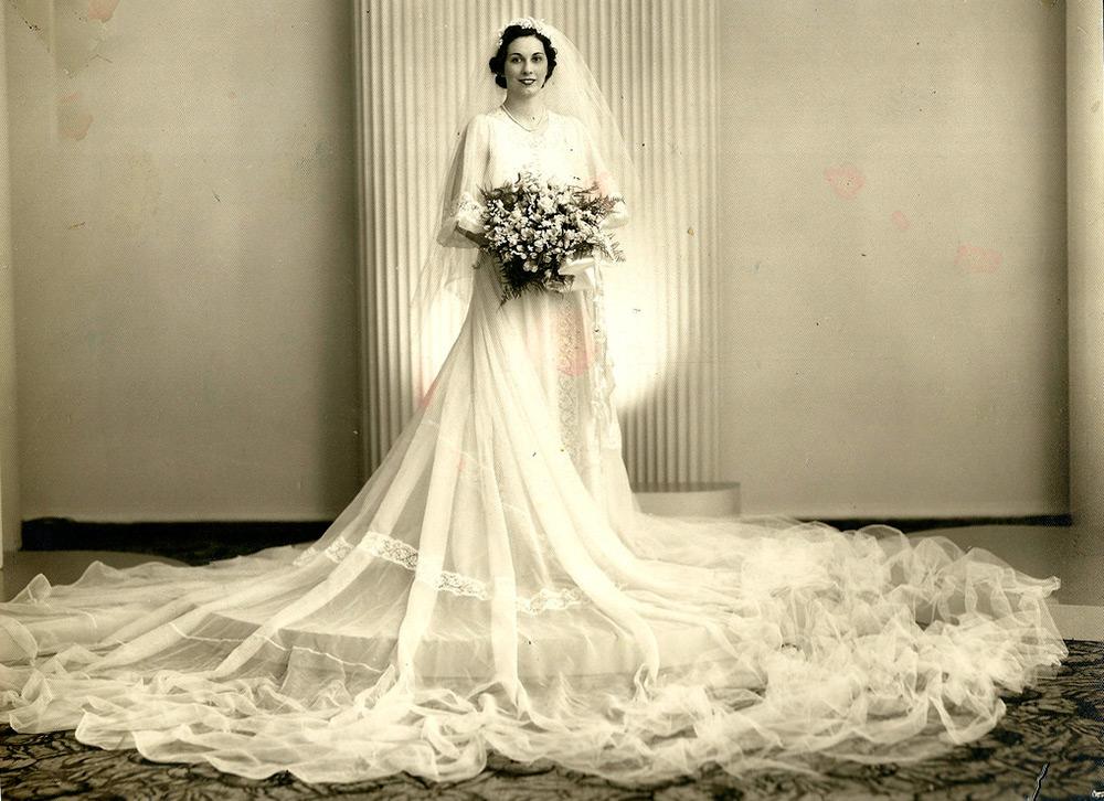 Свадебное платье 1930 годов