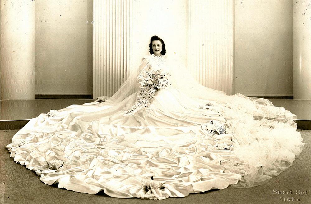 Свадебные платья и невесты 1930 годов